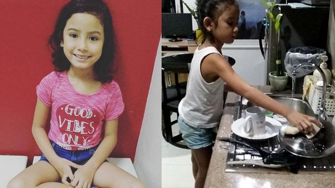 Nine celebrity kids doing gawaing pambahay