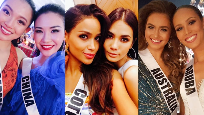 Candidates who are BFFs at the Miss Universe 2016 pageant