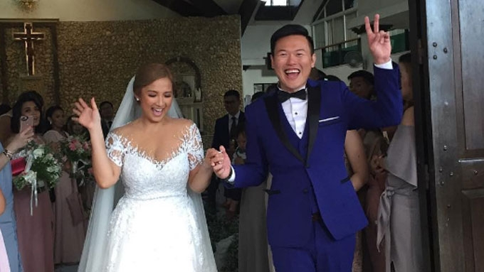 Ehra Madrigal weds businessman Tom Yeung in Boracay