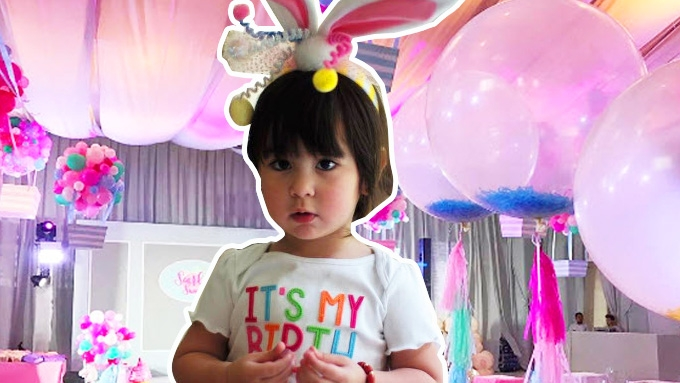 Scarlet Snow celebrates 2nd birthday with cute pink stuff!