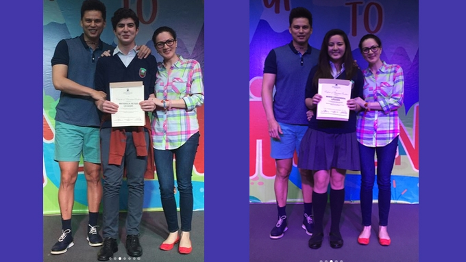 Cassy and Mavy Legaspi bag three awards in school