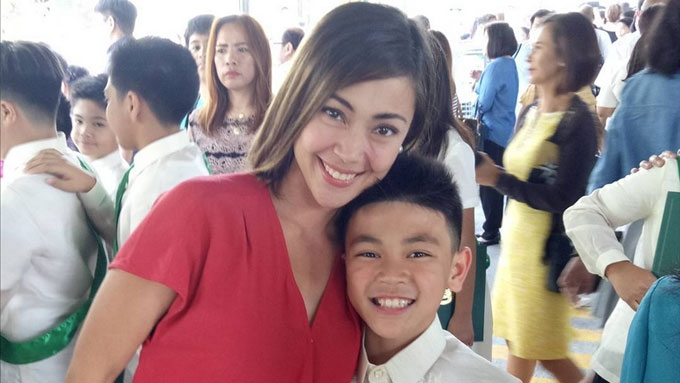 Jodi Sta. Maria's son Thirdy finishes 6th grade with honors