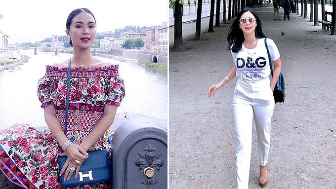Heart Evangelista's Dolce and Gabbana OOTDs in Europe