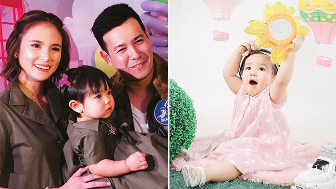 Feather Prats 'travel around the world' on 1st birthday