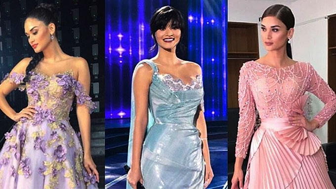 The gowns worn by Pia Wurtzbach at Bb. Pilipinas pageant