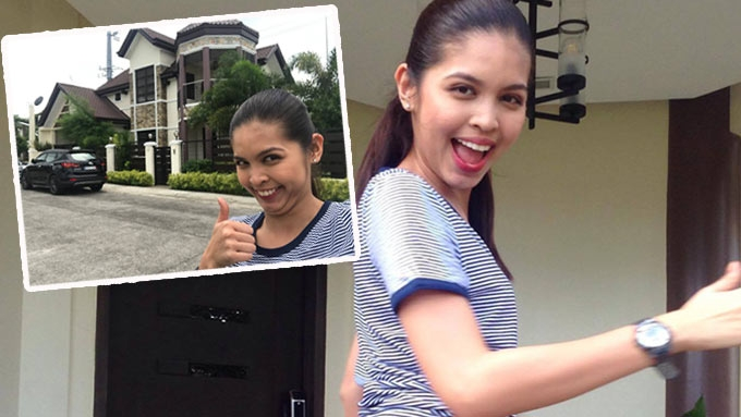 Maine Mendoza gives a tour of Alden Richards's home