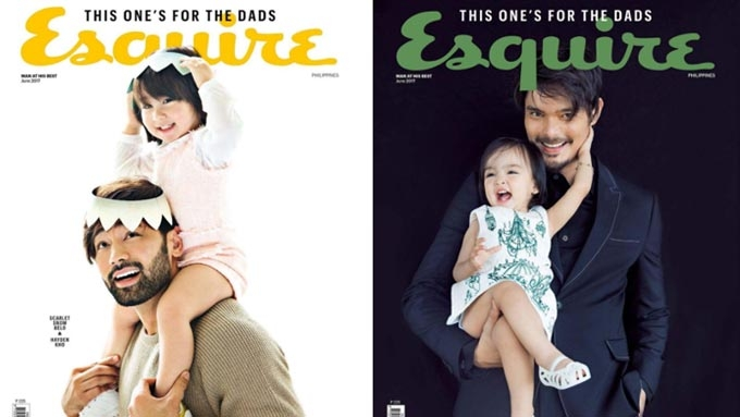 Four celeb dads and their kids front Esquire's June issue