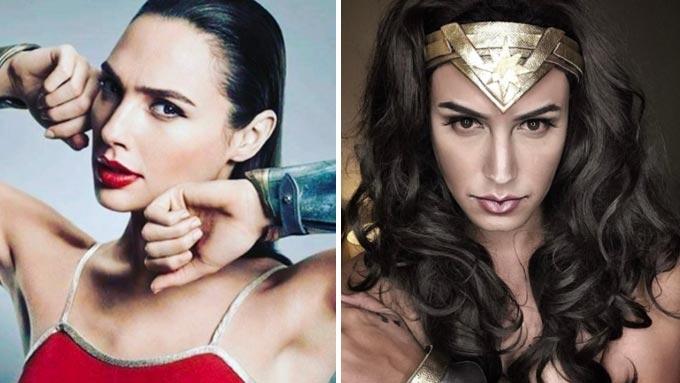 Paolo Ballesteros as Wonder Woman wows Gal Gadot