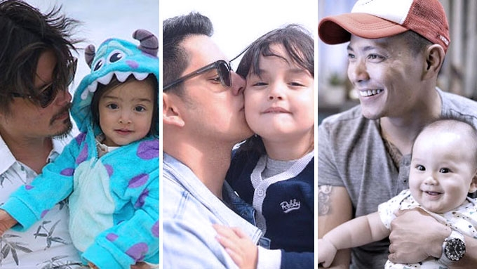 First-time celebrity dads nailing fatherhood like a pro