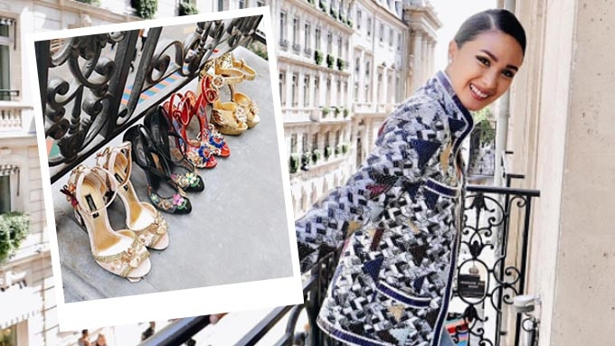 The D&G shoes that Heart Evangelista brought to Paris
