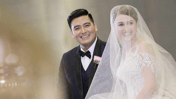 Alfred and Yasmine Varags tie the knot in church wedding
