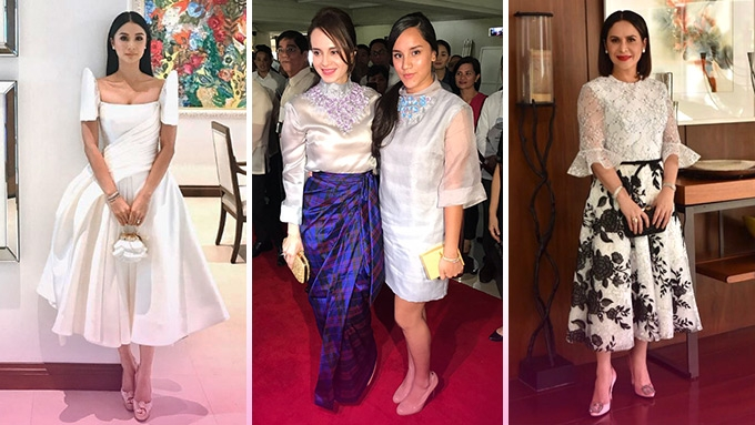 Sona 2017 Chic Headturners In Quot Simple Filipiniana Quot Pep Ph