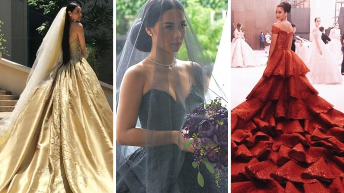 Which wedding gown would you wear: red, black, or gold? | PEP.ph