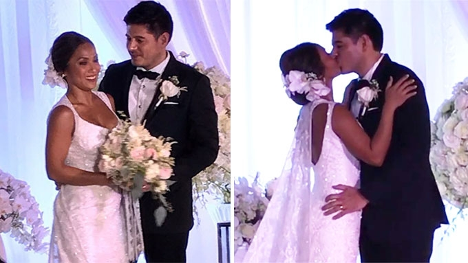 Rochelle Pangilinan and Arthur Solinap tie the knot