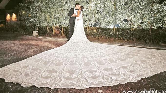 Rochelle Pangilinan's exquisite bridal cape: details!