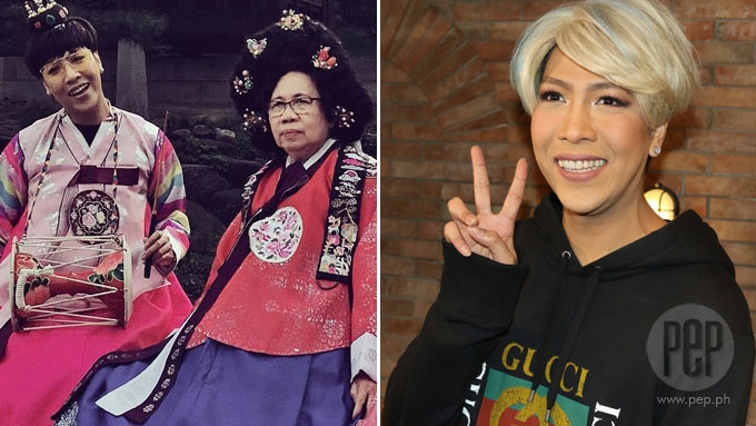 Vice Ganda's touching moment with his nanay in South Korea