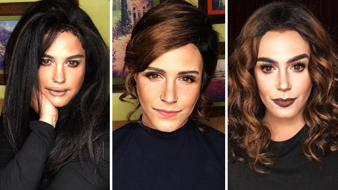 Paolo transforms to Selena Gomez, Emma Watson, Lily Collins