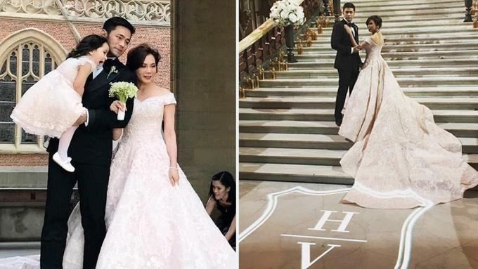 Vicki, Hayden's wedding reception held in famous opera house