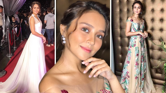 A teaser to Kathryn Bernardo's next Star Magic Ball look