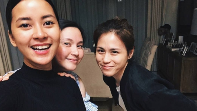 Bianca, Mariel, and Toni have a Moms' Night Out