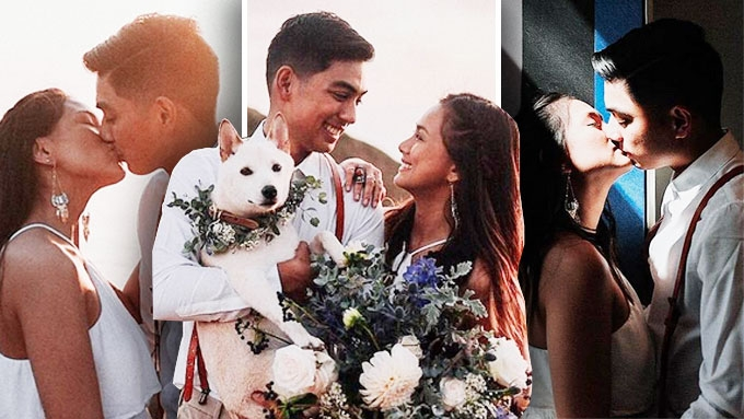 Eula Caballero and Christian Samson tie the knot