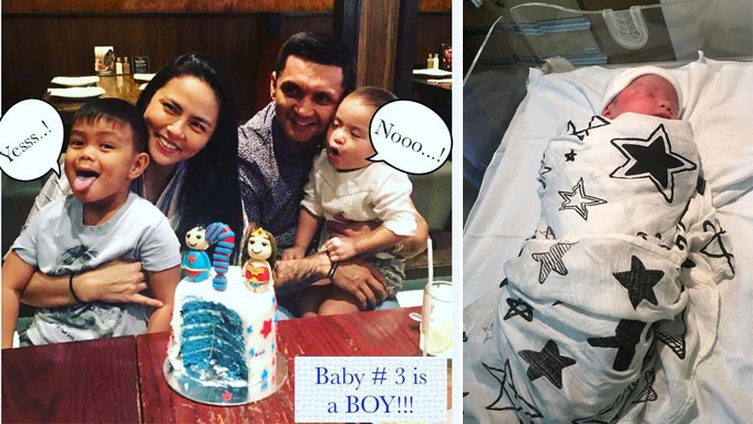 LJ Moreno and Jimmy Alapag welcome newborn son