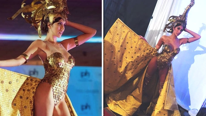 Rachel Peters strikes gold with her national costume