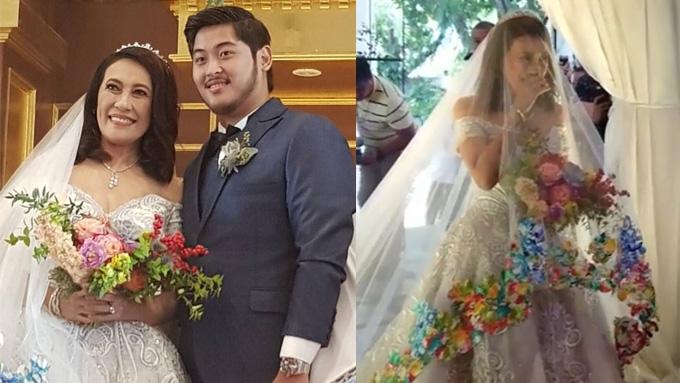 Ai-Ai delas Alas glimmers in Frederick Peralta wedding gown
