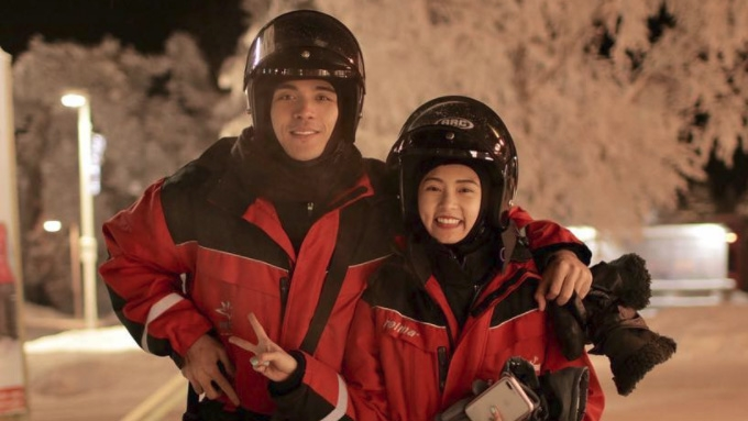 Kim Chiu and Xian Lim spellbound by northern lights
