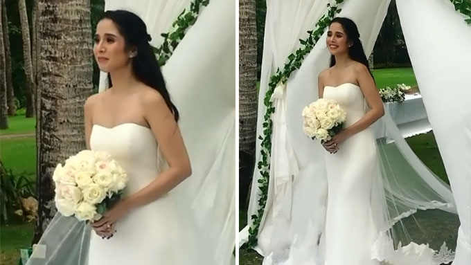 FIRST LOOK: Maxene Magalona's beach bridal gown