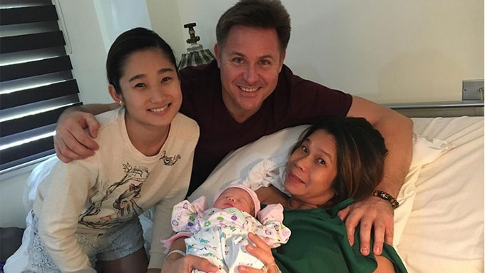 Pokwang and partner Lee O'Brian welcome Baby Malia