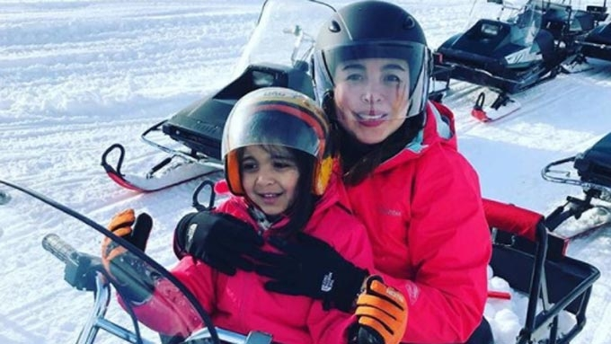 Marjorie Barretto introduces youngest daughter to public