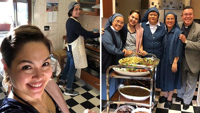 Judy Ann Santos, Ryan Agoncillo cook for nuns at the Vatican