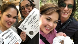 Judy Ann Santos and Ryan Agoncillo complete Italian cooking course in Florence