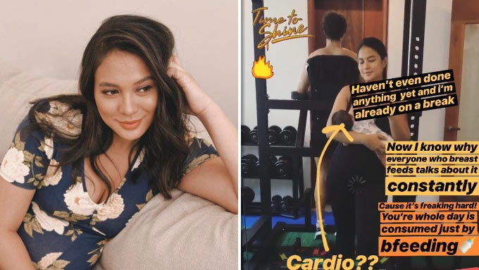 Isabelle Daza says breastfeeding is a