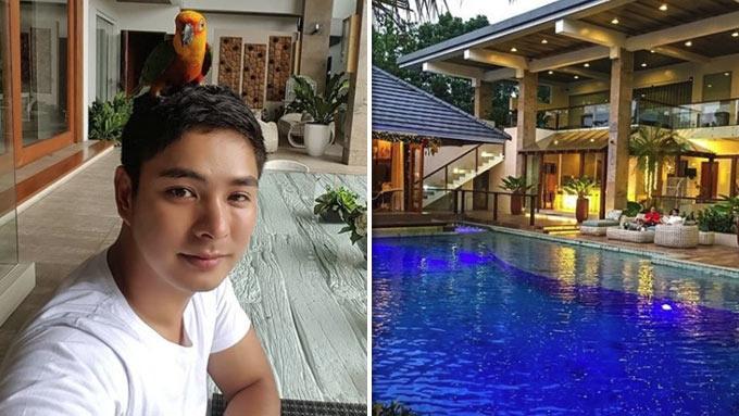 Celebrities with resort-like poolside areas