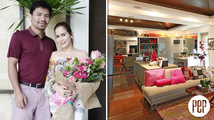 Inside Manny and Jinkee Pacquiao's walk-in closets