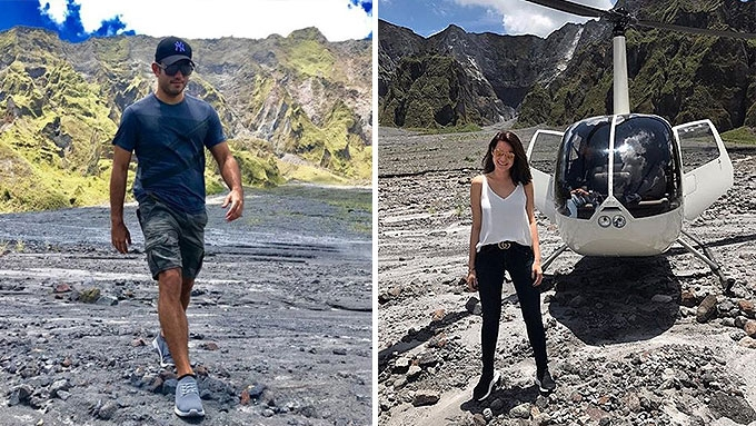 Bea Alonzo, Gerald Anderson ride helicopter to Mt. Pinatubo