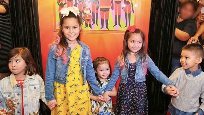 Zia, Team Kramer kids, and Scarlet: Cuteness overload!