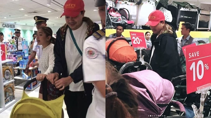 John Lloyd Cruz shops for a baby stroller