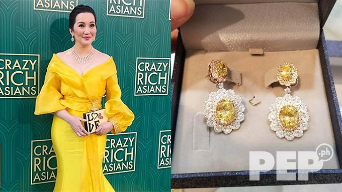 Kris Aquino's pricey jewelry at Crazy Rich Asians premiere