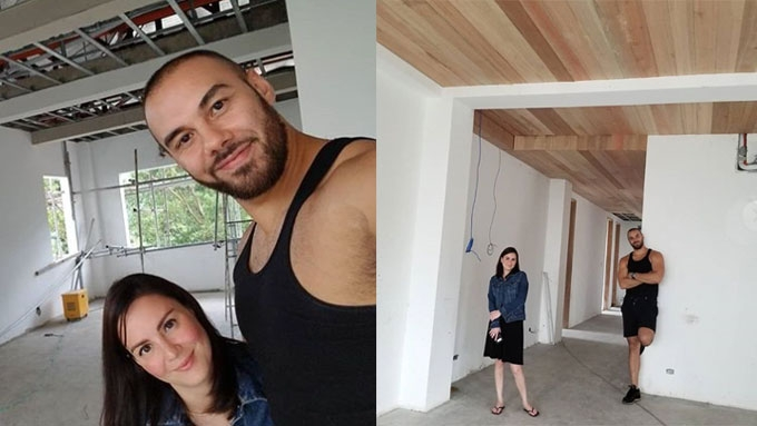 Cheska Garcia and Doug Kramer show how their master bedroom will look