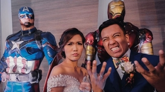 Get to know the couple behind Marvel-inspired wedding video