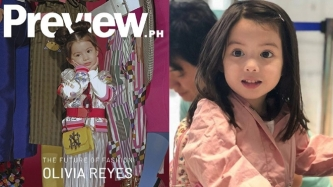 Olivia Reyes, 3, is the youngest Preview cover girl to date