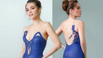 Alyssa Muhlach Alvarez in scene-stealing long gown at Miss World Philippines 2018