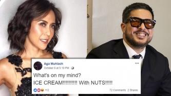 Aga Muhlach casually gets free ice cream from Rachel Alejandro on Facebook