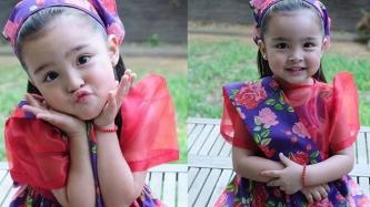 Zia Dantes wears Filipiniana dress to her school's UN celebration
