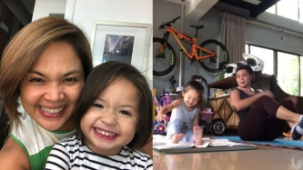 Judy Ann Santos finds workout buddy in daughter Luna
