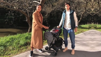 Isabelle Daza dresses son Baltie in hand-me-downs