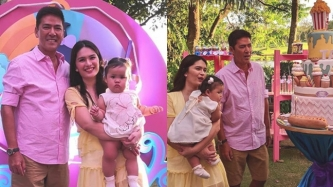 Vic Sotto and Pauleen Luna hold kiddie pool party for daughter Tali 1st birthday